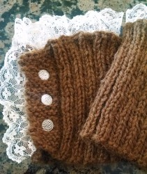 Laced Boot Cuffs with Buttons