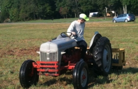 JP aerating the pasture